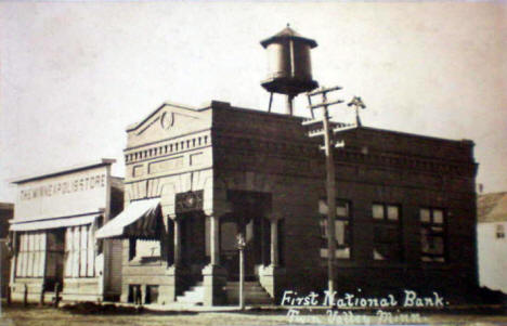 First National Bank, Twin Valley Minnesota, 1910's?