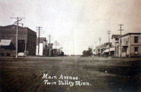 Main Avenue, Twin Valley Minnesota, 1910's?