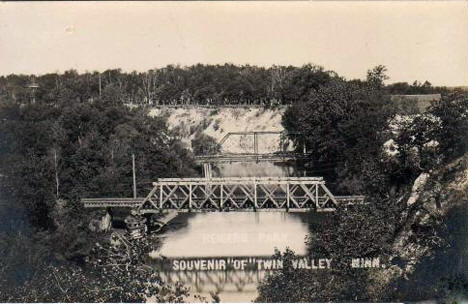 Bridges over the Wild Rice River, Twin Valley Minnesota, 1910's