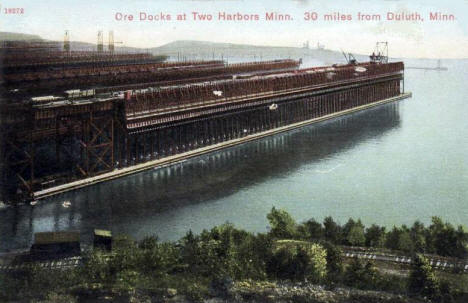 Ore Docks, Two Harbors Minnesota, 1911