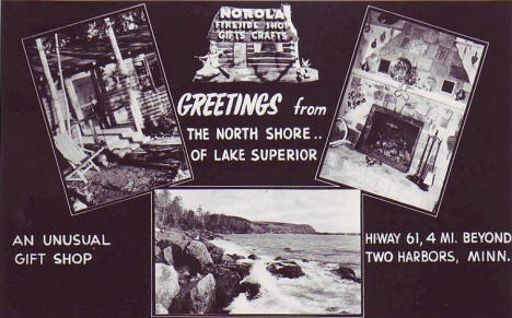 Norola Gift Shop, Two Harbors MN, 1953's