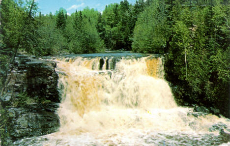 Upper Gooseberry Falls, Two Harbors Minnesota, 1960's
