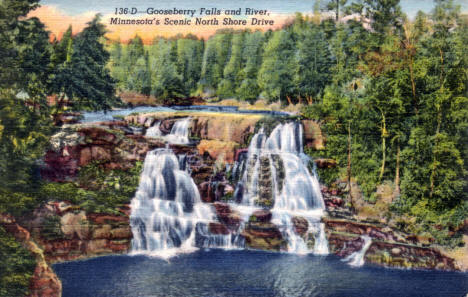 Gooseberry Falls, Two Harbors Minnesota, 1949