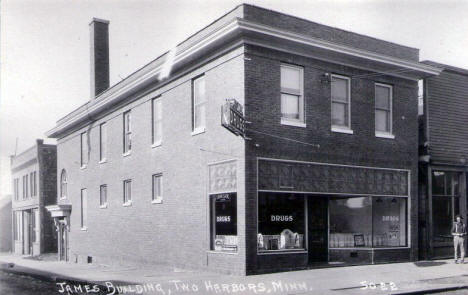 James Building, Two Harbors Minnesota, 1920's