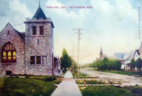 Third Avenue East, Two Harbors Minnesota, 1911
