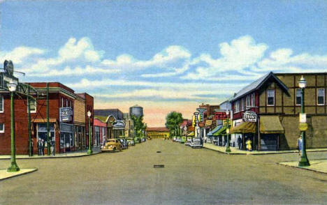 First Avenue, Two Harbors Minnesota, 1940's