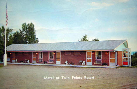 Motel at Twin Points Resort, Two Harbors Minnesota,1961