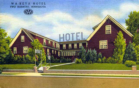 Wa-Keya Hotel, Two Harbors Minnesota, 1950