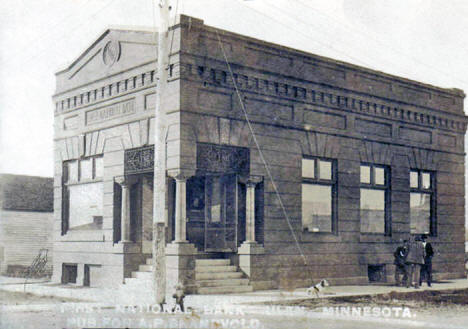 First National Bank, Ulen Minnesota, 1910's