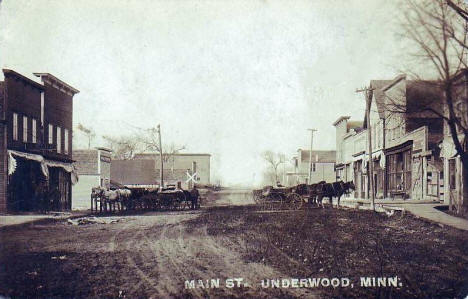 Main Street, Underwood Minnesota, 1912