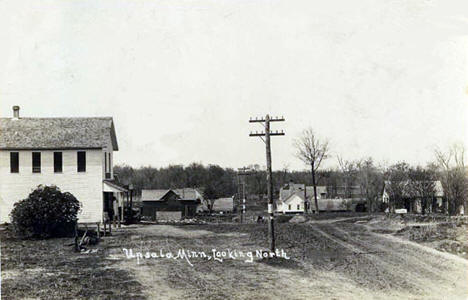 Upsala Minnesota, looking north, 1917