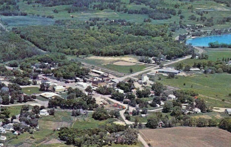 Aerial view, Vergas Minnesota, 1970's
