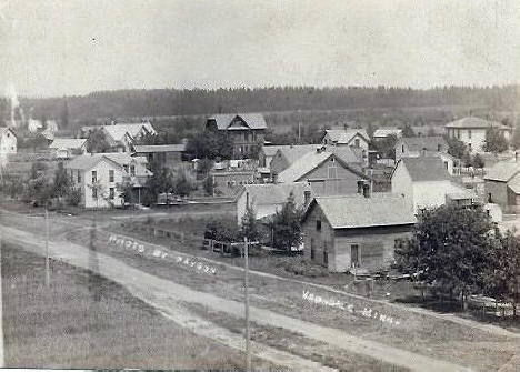 General view, Verndale Minnesota, 1910s?