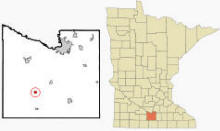 Location of Vernon Center, Minnesota