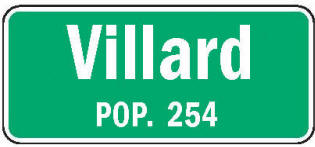 Villard Minnesota population sign