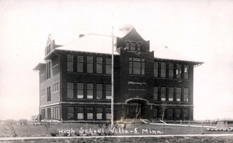 High School, Villard Minnesota, 1910's?
