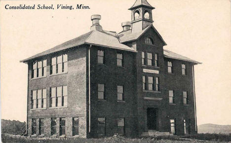 Consolidated School, Vining Minnesota, 1900's?