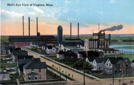 Birds Eye View of Virginia Minnesota, 1912