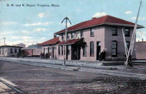 D. M. and N. Depot, Virginia Minnesota, 1910's?