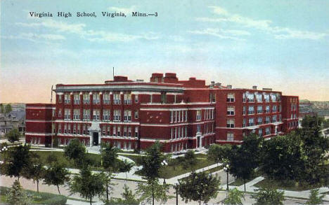 High School, Virginia Minnesota, 1920