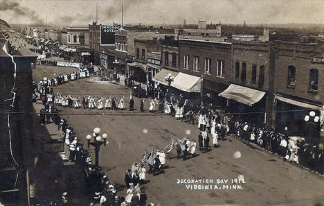 Decoration Day Parade, Virginia Minnesota, 1912