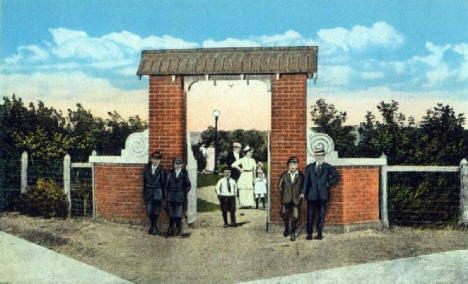 Entrance to Southside Park, Virginia Minnesota, 1920's