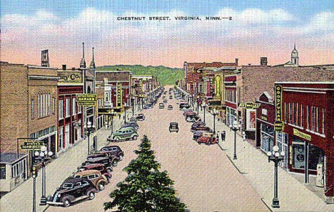 Chestnut Street, Virginia Minnesota, 1942
