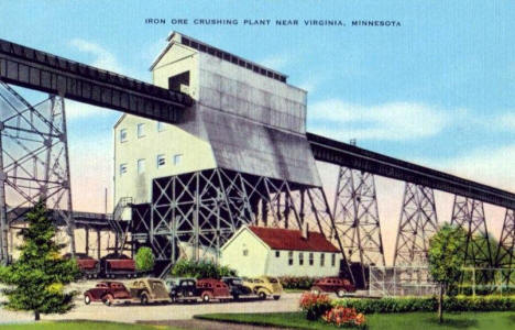 Iron Ore Crushing Plant near Virginia Minnesota, 1940's