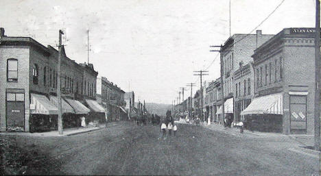 Chestnut Street, Virginia Minnesota, 1909