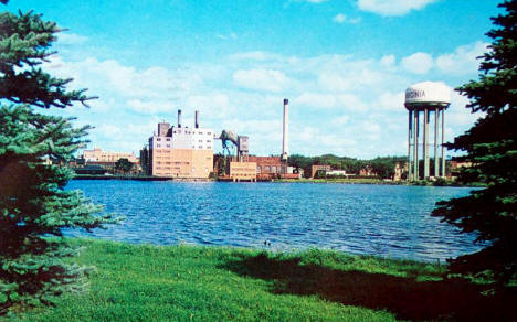 Virginia Minnesota Power Plant and Water Tower, 1965