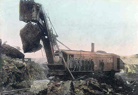 Stripping the Iroquois Mine in Virginia Minnesota, 1908