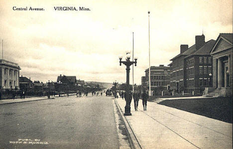 Central Avenue, Virginia Minnesota, 1912