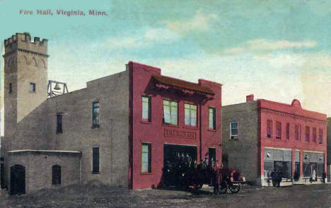 Fire Hall, Virginia Minnesota, 1918