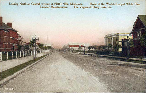 Central Avenue, Virginia Minnesota, 1905