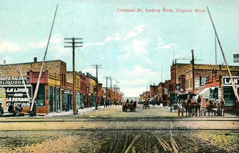 Chestnut Street, Virginia Minnesota, 1908
