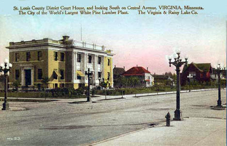 St. Louis County District Court House, Virginia Minnesota, 1910