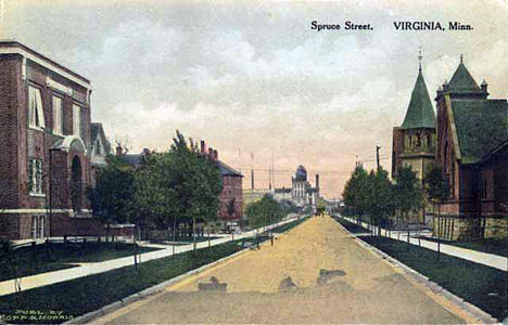 Spruce Street, Virginia Minnesota, 1910