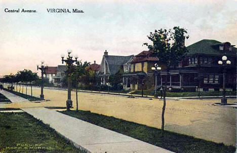 Central Avenue, Virginia Minnesota, 1910