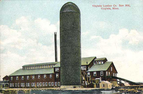 Virginia Lumber Company Sawmill, Virginia Minnesota, 1910
