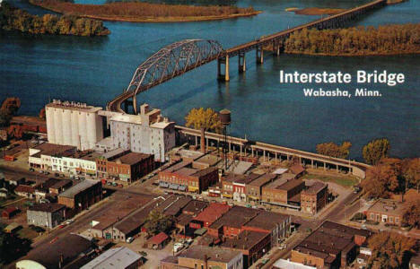 Interstate Bridge, Wabasha Minnesota, 1960's