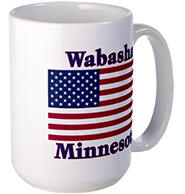Wabasha US Flag Large Mug