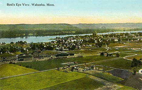 Birds eye view, Wabasha Minnesota, 1910