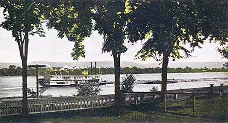 Mississippi River in Wabasha Minnesota, 1910