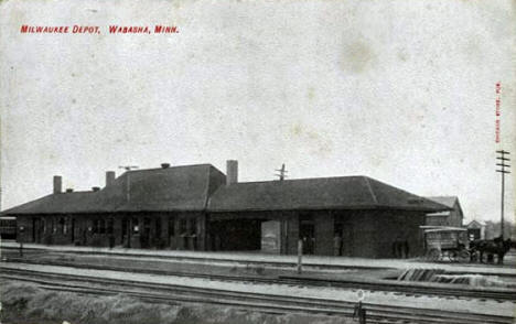 Milwaukee Depot, Wabasha Minnesota, 1910