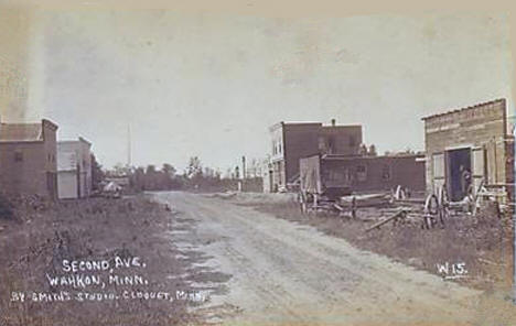 Second Avenue, Wahkon Minnesota, 1900's