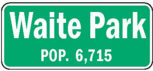 Waite Park Minnesota population sign