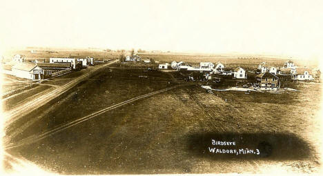 Birds eye view, Waldorf Minnesota, 1900's