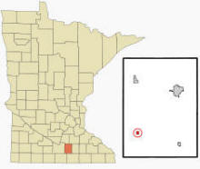 Location of Waldorf, Minnesota