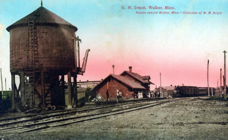 Great Northern Depot, Walker Minnesota, 1910
