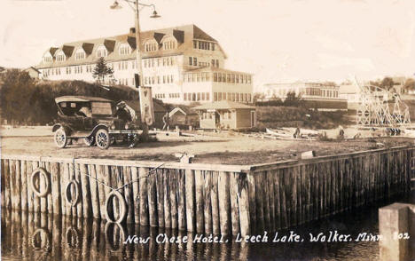 New Chase Hotel, Leech Lake, Walker Minnesota, 1928